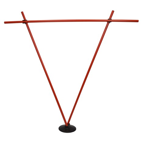 Kit base caoutchouc 3 trous + 3 jalons 1.50 m + 2 pinces