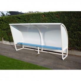 Abris de touche en acier galvanisé plastifié Blanc - Hauteur 1,60M - Sporti 060003