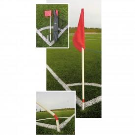 Jeu de 4 poteaux de Corner Flexibles - Sporti 060179