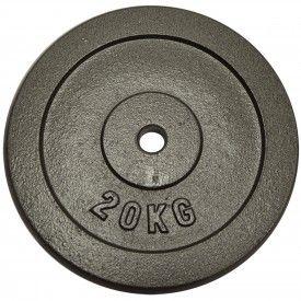 Poids disque en fonte 20 kg Sporti