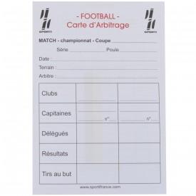 Carnet de 15 cartes seul d'arbitrage Foot - Sporti 063277