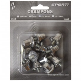 Crampons cylindriques (Blister de 12 crampons alu / 8 x 13 mm + 4 x 16 mm) - Sporti 063280