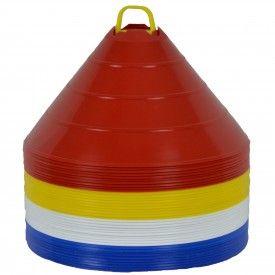Multimarqueurs géants 15 cm avec encoche Jaune/Rouge/Bleu/Blanc (Lot de 40) Sporti