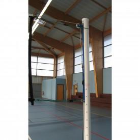 Poteaux de Volley aluminium (la paire) - Sporti 064042