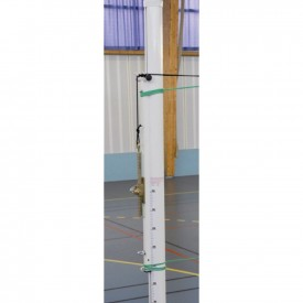 Poteaux de Volley Compétition diam. 90 Alu renforce (Treuil Externe) - Sporti 064043A