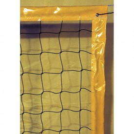 Filet de Beach Volley 9.5x1 m 2 mm simple cordeau Noir - Sporti 065093