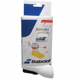 Pack 3 Chaussettes 35/38 - Babolat 45S1393-BLANC-35/38