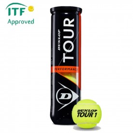 Tube 4 balles Dunlop Tour performance - Dunlop 601328