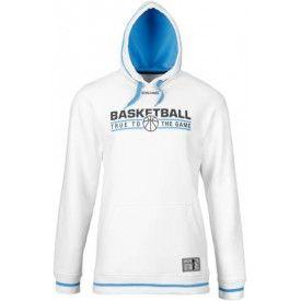 Sweat Team Hoody Blanc/Bleu ciel