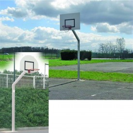 Panier de Basket déport 1.20 m et hauteur 2.60 m galvanisé à sceller - Sporti 064132