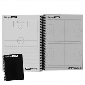 Carnet coach Football à spirales A5 - Sporti 063464