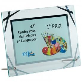 Plaque verre 20 x 15 cm - France Sport F_153-31_SR2