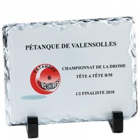 Plaque pierre 15 x 11 cm - France Sport F_154-01_SR1