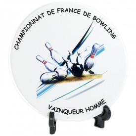 Plaque céramique 16 cm - France Sport F_154-12_SR2