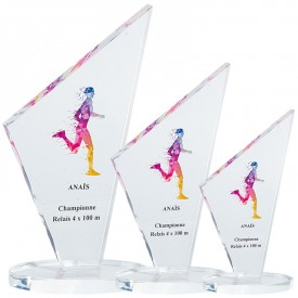 Trophée Acryglass impression couleur - France Sport F_158-7