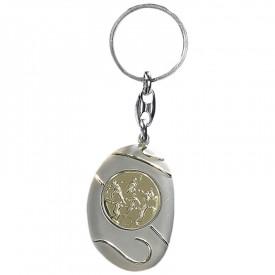 Porte-clés médaille personnalisable - France Sport F_192-21L