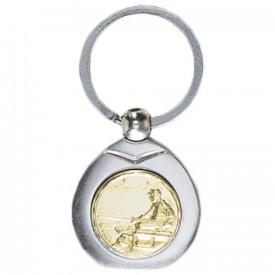Porte-clés médaille personnalisable - France Sport F_192-28L
