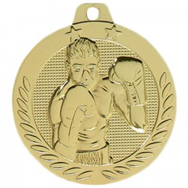 Médaille Boxe Or 40 mm - France Sport F_DX04D