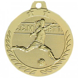 Médaille Football féminin Or 40 mm - France Sport F_DX08D