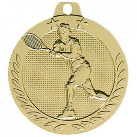 Médaille Tennis Or 40 mm France Sport