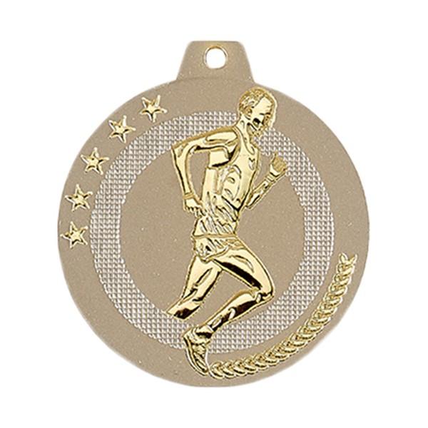 Médaille Course à pied 50 mm Or France Sport