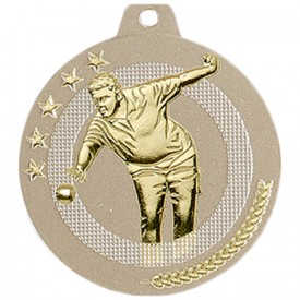 Médaille Pétanque 50 mm Or France Sport