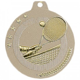 Médaille Tennis 50 mm Or France Sport