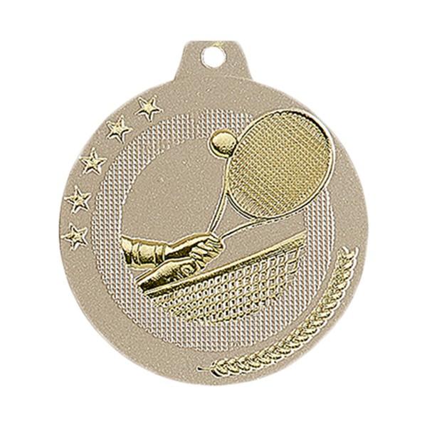Médaille Tennis 50 mm Or France Sport
