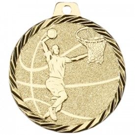 Médaille Basket-ball 50 mm Or France Sport