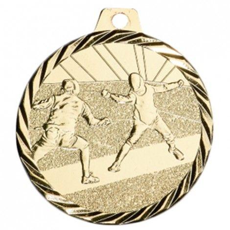 Médaille Escrime 50 mm Or France Sport