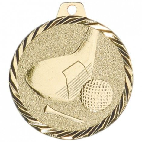 Médaille Golf 50 mm Or France Sport