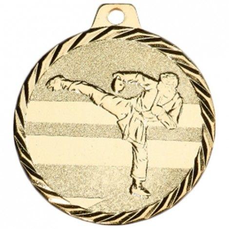 Médaille Karaté 50 mm Or France Sport