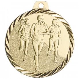 Médaille Course à pied féminine 50 mm Or - France Sport F_NZ16D