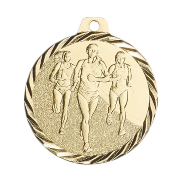 Médaille Course à pied féminine 50 mm Or France Sport