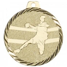 Médaille Handball 50 mm Or - France Sport F_NZ09D