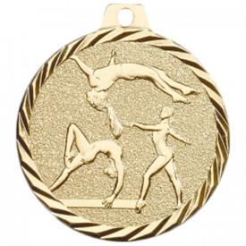 Médaille Gymnastique 50 mm Or France Sport