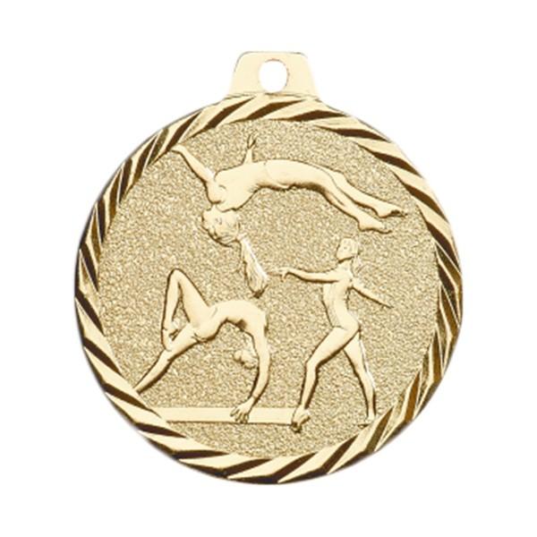 Médaille Gymnastique 50 mm Or France Sport
