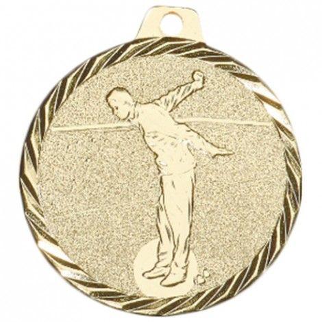 Médaille Pétanque 50 mm Or France Sport