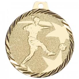 Médaille Football Féminin 50 mm Or - France Sport F_NZ18D