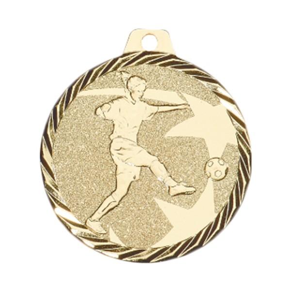 Médaille Football Féminin 50 mm Or France Sport