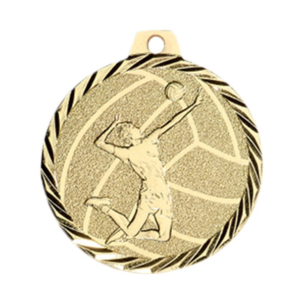 Médaille Volley-ball 50 mm Or France Sport