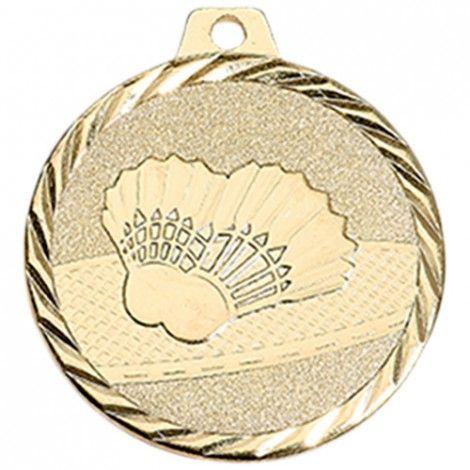 Médaille Badminton 50 mm Or France Sport