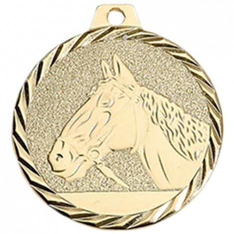 Médaille Equitation 50 mm Or France Sport
