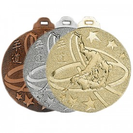 Médaille métal massif Judo 50 mm - France Sport F_NY07