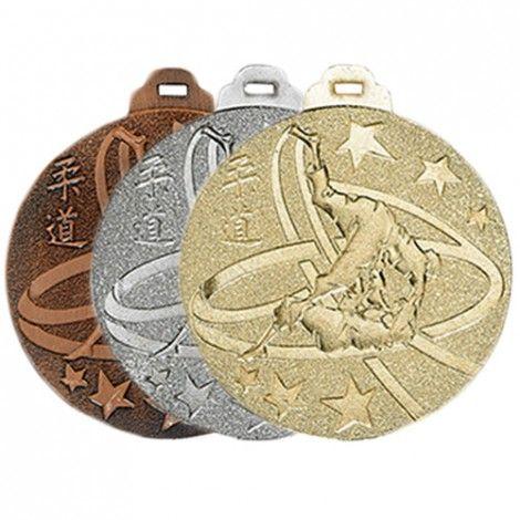 Médaille métal massif Judo 50 mm France Sport