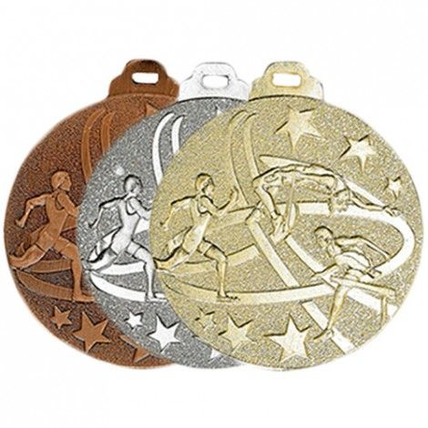 Médaille métal massif Athlétisme 50 mm France Sport