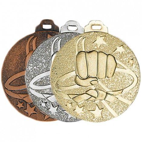 Médaille métal massif Karaté 50 mm France Sport