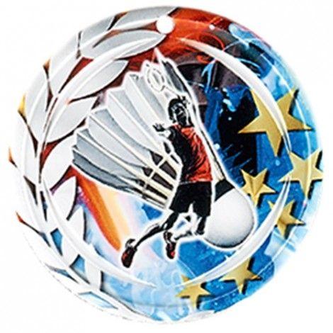 Médaille Céramique Badminton 70 mm France Sport
