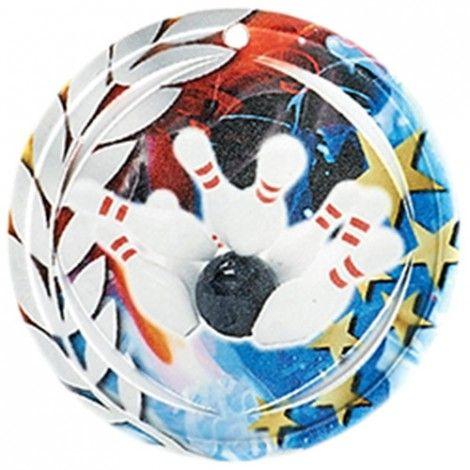 Médaille Céramique Bowling 70 mm France Sport