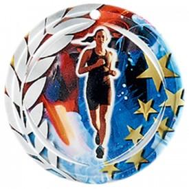Médaille Céramique Course à pied féminine 70 mm - France Sport F_NA06